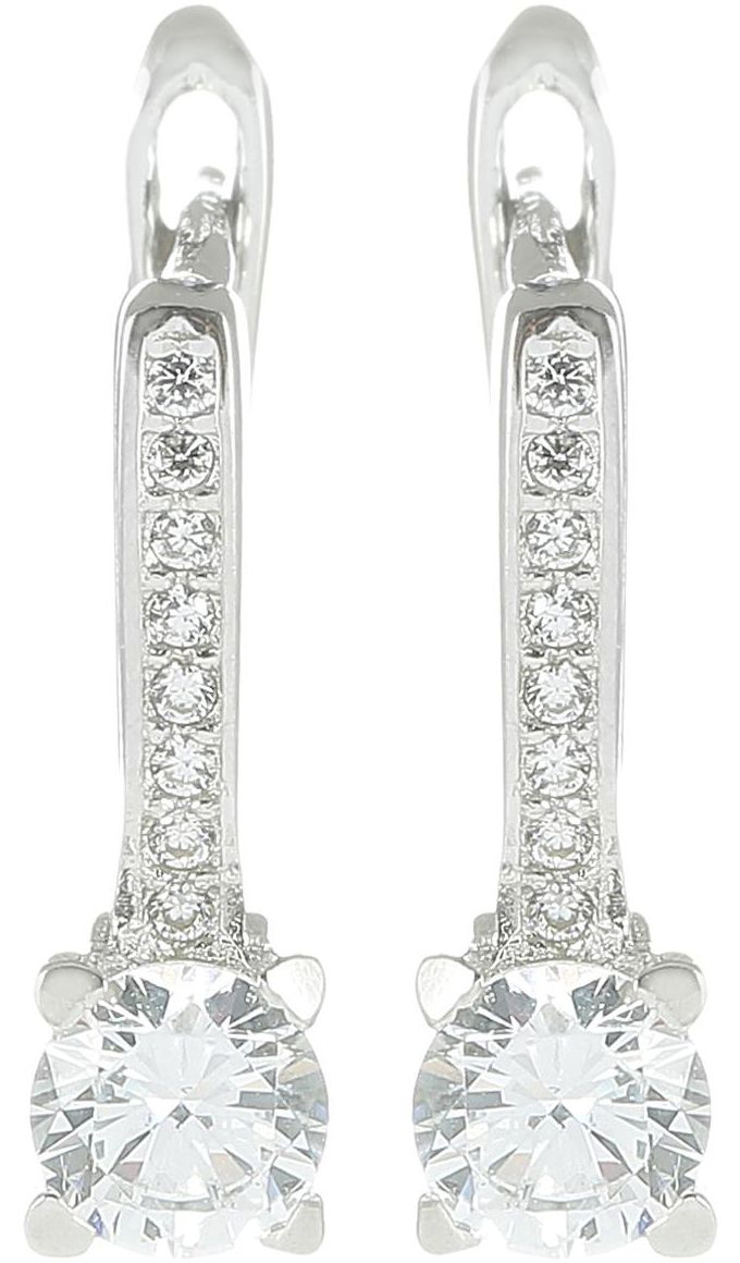 925 Silver CZ Earrings ER69