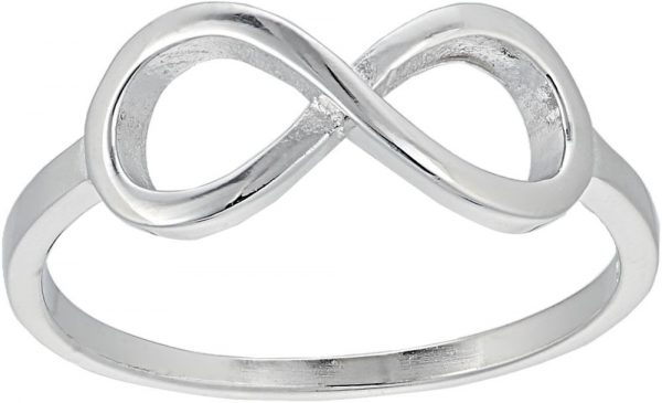 925 Silver Infinity Ring LRG1035